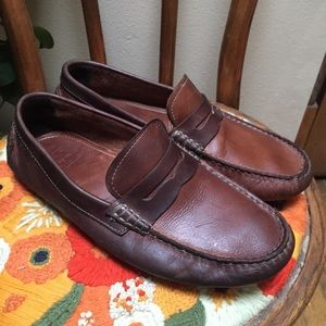 8.5 Brown Leather Driving Shoes Johnston & Murphy